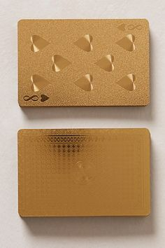 Metallic Playing Cards - anthropologie.com, so fancy! $18