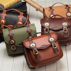 Cowhide Leather DSLR Camera Messenger Bag