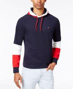 TOMMY HILFIGER Tommy Hilfiger Men'S Logo Colorblocked Hoodie. #tommyhilfiger #cloth # hoodies