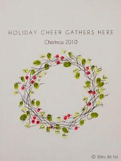Christmas finger painting on Pinterest | Fingerprints, Reindeer and ...