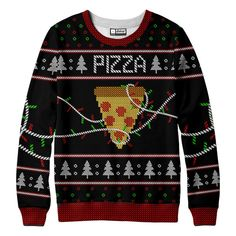 """belovedwear® presents the #uglypizza Sweatshirt This """"all over"""" print crewneck sweatshirt is made using a special sublimation technique to provide a vivid graph"""