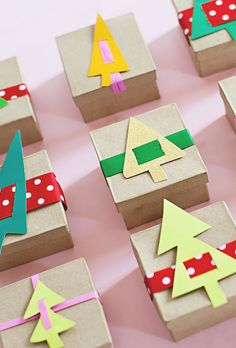 Paper Trees Advent Calendar (but also a cool gift wrapping idea)