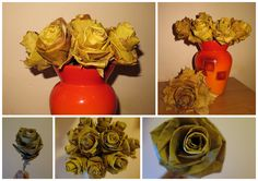 roses made from leaves