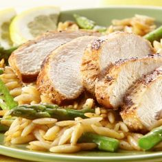 Lemon Pepper Chicken with Orzo - make a quick hearty meal in one skillet.