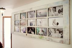 20 ways to use old doors. old door photo collage decor. Use old doors in a new way with these great ideas for turning old doors into something useful and new for your home. Diy Casa, Deco Originale, Photo Boards, Old Doors, Photo Displays, Display Photos, Display Ideas, Home Projects, Diy Projects Old Windows