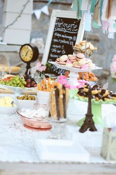 Paris Bakery Baby Shower Party!  See more party planning ideas at CatchMyParty.com!