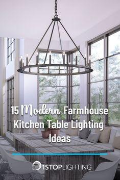 15 Modern Farmhouse Kitchen Table Lighting Ideas Discover 15 Modern Farmhouse k… – Fixtures 2020 Farmhouse Kitchen Fixtures, Farmhouse Kitchen Island, Kitchen Island Decor, Modern Farmhouse Kitchens, Farmhouse Ideas, Diy Kitchen, Farmhouse Style, Light Table, Table Lighting