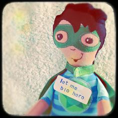 Bio Hero - Stoffpuppe selber nähen aus Biostoffen - Sewing Super hero fabric doll - Diy Fabric Doll