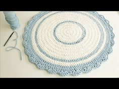 Tapete Redondo de Crochê Com Fio de Malha - Crochê Circular Perfeito - Tutorial de Crochê - DIY - YouTube