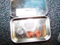 use altoid tins for coin math center