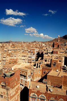 صنعاء /Sana'a (Yemen), one day I need to go here. just beautiful.