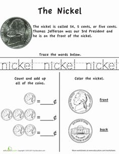 Learn The Coins Nickel