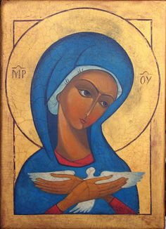 MB Pneumatofora Religious Icons, Religious Art, George Tooker, Lady Madonna, Catholic Crafts, Labyrinths, Painting Studio, Blessed Virgin Mary, Orthodox Icons