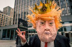 MANGO  MUSSOLINI - Composition Saturday #PhotoOfTheDay #FakePrez #MangoMussolini #performer #artist #mask #StreetTheater #ResistTrump #Trump #DonaldTrump #puppet #DumpTrump #NotMyPresident #RejectPresidentElect #trumpvsallofus #Photography #streetphotography #NikonPhotography #Nikon #2017 #ErikMcGregor   © Erik McGregor - erikrivas@hotmail.com - 917-225-8963