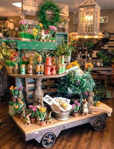 Visual merchandising. Retail store display. Spring. Home decor and accessories.