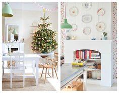 Decoración de Navidad en colores pasteles
