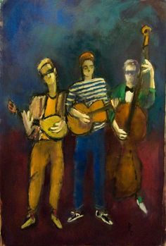 ♪ The Musical Arts ♪ music musician paintings - Andre Pallat | Trio - Pinterest