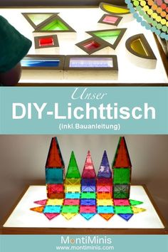 DIY - light table / light table just make yourself! Best Picture For Montessori toddler For Your Taste You are looking for something, and it is going to tell you exactly what you are looking for, and Fall Crafts For Kids, Crafts For Girls, Summer Crafts, Diy For Kids, Yellow Nursery, Girl Nursery, Sand Crafts, Diy Crafts, Paper Crafts