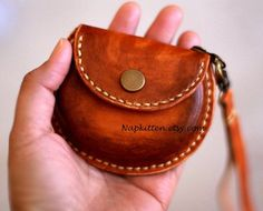 Leather coin purseleather earbuds pouch case bagleather