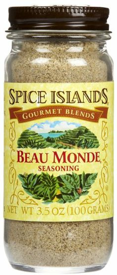 Spice Island Beau Monde Seasoning // Homemade recipe:  1 tbsp ground cloves  1 1/4 tsp ground cinnamon  1 tbsp salt  1 tbsp ground bay leaf  1 tbsp ground allspice  2 tbsp ground pepper  1 tbsp ground white pepper  1 tsp ground nutmeg  1 tsp ground mace  1 tsp celery seed | In a small mixing bowl, mix together all ingredients. Pour into a tightly closed jar and store in a cool, dry place. Yields approx. 9 tbsps. More info found at: http://www.wisegeek.org/what-is-beau-monde-seasoning.htm