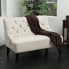 Christopher Knight Home Nicole Fabric Settee | Overstock™ Shopping - Great Deals on Christopher Knight Home Sofas & Loveseats
