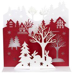Glitter Rabbits Christmas Cards - John Lewis