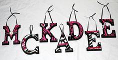 Cute Zebra Name Letters.