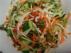 Овощные салаты с растительным маслом без майонеза
