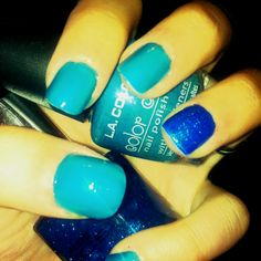 Pool blue nails:)