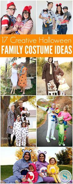 Family Halloween Costume Ideas including DIY Family Halloween Costumes, Group Halloween Costumes, Couple Halloween Costumes and Store Bought Costumes!