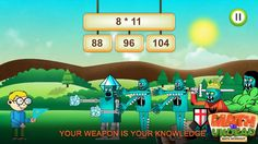 Math vs Undead, a maths game for kids, on #iOS and #Android! #indiegames #videogames #gamesinitaly