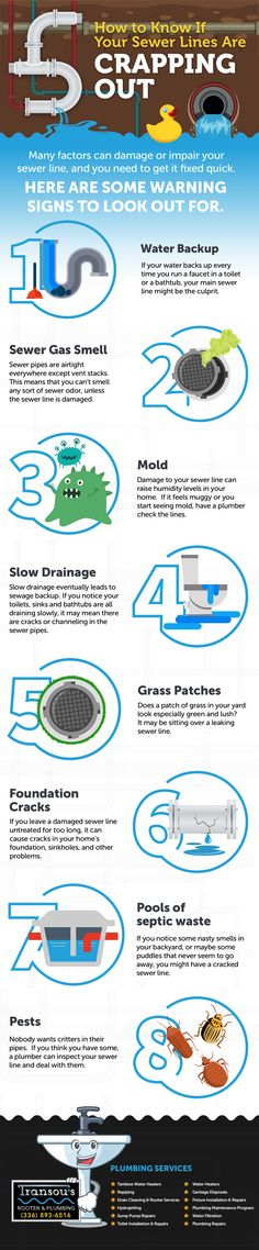 Signs such as water backup, sewer gas smell, mold, slow drainage, and foundation… - Christmas-Desserts Sewer Gas Smell, Rooter Plumbing, How To Know, Foundation, Patches, Pink Eyes, Signs, Water, Swag