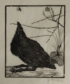Jan Mankes, A crow watching a mosquito, 1918