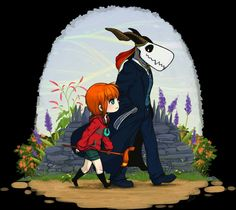 Afternoon Stroll: Elias and Chise by Pandas-R-Us http://pandas-r-us.deviantart.com/art/Afternoon-Stroll-Elias-and-Chise-569294175