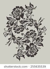 Find Flower Design Elements Vector stock images in HD and millions of other royalty-free stock photos, illustrations and vectors in the Shutterstock collection. Stencil Designs, Paint Designs, Designs To Draw, Flower Pattern Drawing, Flower Motif, Gothic Flowers, Border Embroidery Designs, Henna Tattoo Designs, Lace Tattoo Design