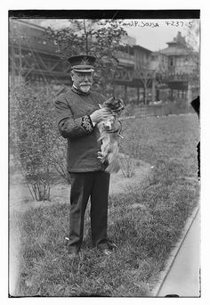 John Philip Sousa holding Pekingese small dog por GalleryLF en Etsy