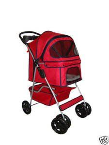 BestPet 4Wheel Pet Stroller Classic Red * You can find more details by visiting the image link.