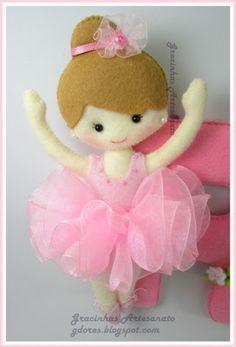 Little ballet dancer Handmade by Gracinhas Artesanato
