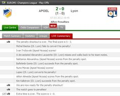 APOEL qualified into the Quarter-Finals of Champions League by defeating Lyon by penalty shoot-outs!    Match stats: http://www.FlashScore.com/match/tvJvRBG8/