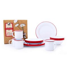 Crow Canyon Home Starter 16 Piece Dinnerware Set, Service for 4 Color: Red