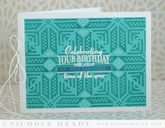 December Birthday Card by Nichole Heady for Papertrey Ink (November 2014)