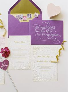 Gold Dot Wedding Invitations | photography by http://www.jacquelynnphoto.com/