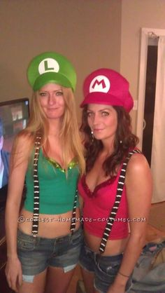 Bombshell Mario and Luigi Girl Costumes... This website is the Pinterest of costumes