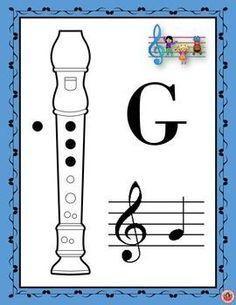 by MusicTeacherResources Recorder Notes, Recorder Music, Recorder Karate, Music Lesson Plans, Music Lessons, Guitar Lessons, Recorder Fingering Chart, Music Bulletin Boards, School