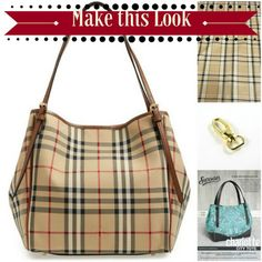 Make a Burberry tote with our supplies with the Charlotte City Tote pattern by Swoon Patterns. You can make this look!