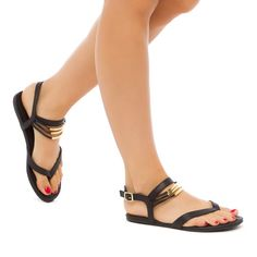 sandals with sassy strap detail