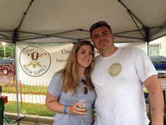 KC Nanobrew Festival 2014 - Tara Payton Stigall and Noah Stigall of Cowtown Brew Supply