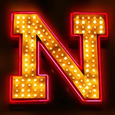 letter N | Neon letter N Art Prints by Mark Diederichsen - Shop Canvas and Framed ...