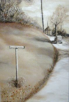 """""""Sous les vignes"""" 60 cm x 40 cm Acrylic sur toile SOLD"""