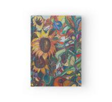 Sunflower Hardcover Journal with original art by Avonelle Kelsey